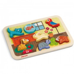 Puzzle 7 piezas animales...